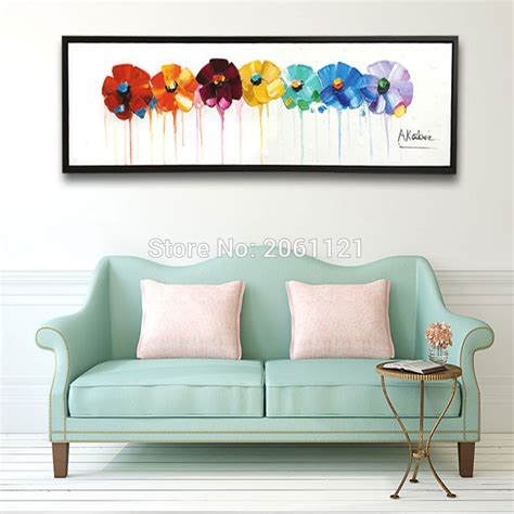 hand painted home decor hand painted large long wall oil paintings modern abstract