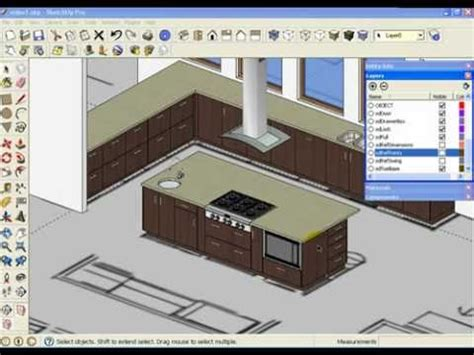 kitchen design sketchup sketchup kitchen design using dynamic component cabinets