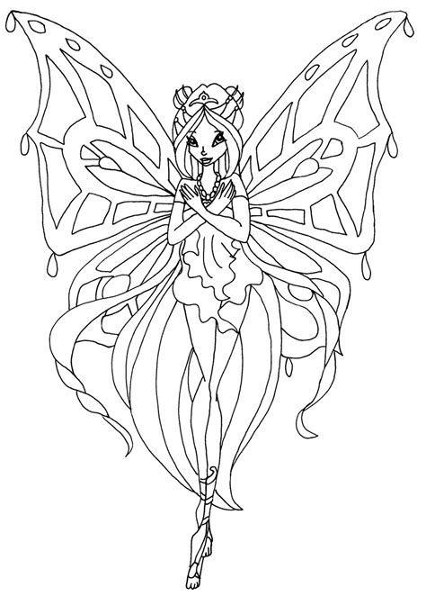 winx club flora enchantix coloring pages coloring pages