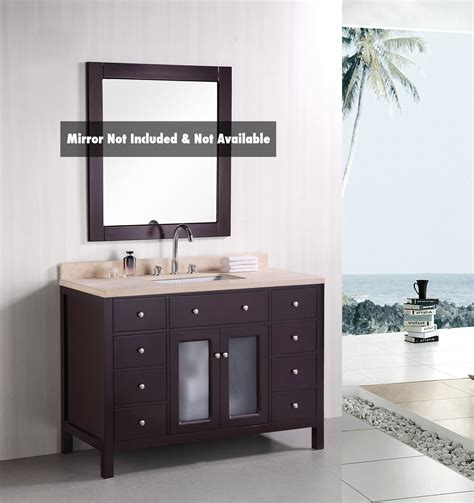 mocha bathroom vanity arcadia single 48 inch contemporary mocha bathroom vanity