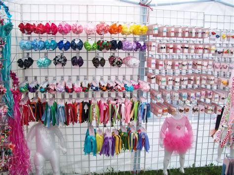 craft show display hip girl boutique llc free hair bow displays addie brooke s bowtique pinterest