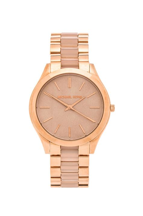 Michael Kors Ohrstecker Rosegold by Michael Kors Slim Runway Gold Toned Stainless Steel