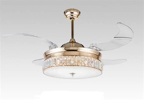 esszimmer deckenventilatoren mit licht led kristall deckenventilator licht modernen