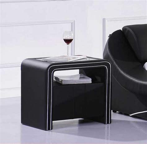 elegante nachttische elegante nachttisch schwarz kunstlederbezug mit