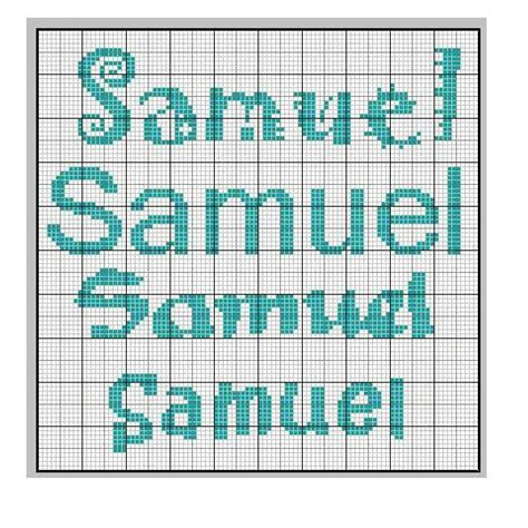 schemas matching pattern or name cross stitch samuel s name quot samuel quot punto croce cross