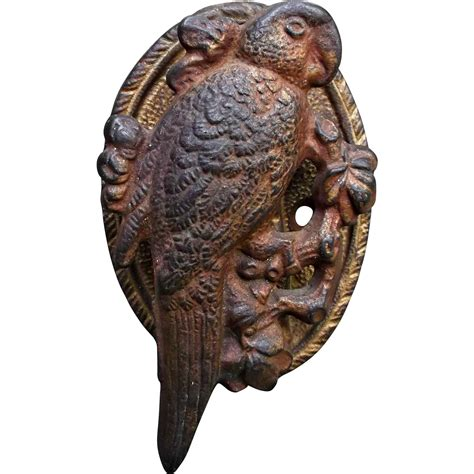 parrot home decor cast iron parrot door knocker vintage home decor from saltymaggie on ruby
