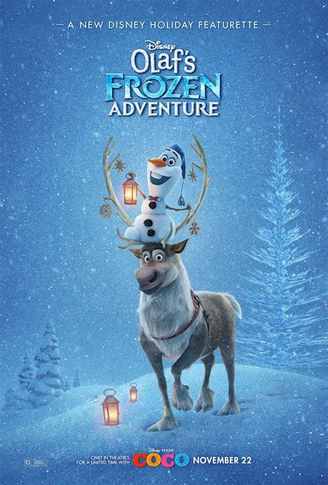 olafs frozen adventure the poster for quot olaf s frozen adventure quot is here in all