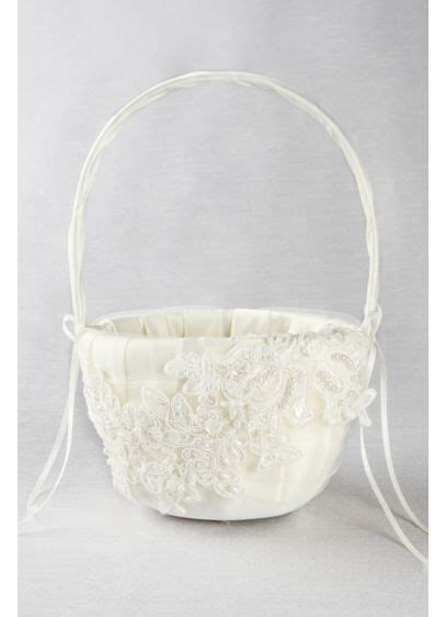 Sea of Petals Flower Girl Basket   David's Bridal