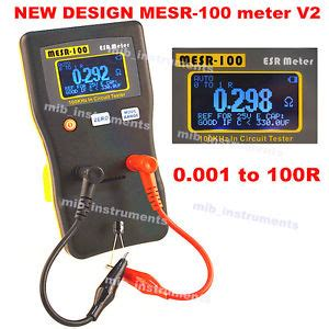 how to test capacitor with ohmmeter mesr 100 autorange incircuit test esr capacitor low ohm meter 0 001 100r ebay