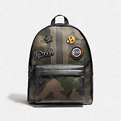 Tas Coach Varsity Patches Large Crossbody Light Khakis Original coach handbags coach handhandbag