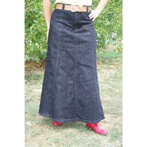 denim western skirt
