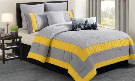 King Comforter Sets Groupon by 8 Quilted Oversized And Overfilled Comforter Set