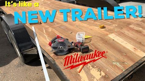 pt trailer paint   wood deck   mustang