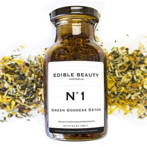 Detox Australia by No 1 Green Goddess Detox Tea Jar Edible Australia
