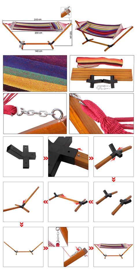 Hängemattengestell Holz Klappbar by H 228 Ngemattegestell Aus Holz H 228 Ngematte Klappbar Mit Kissen