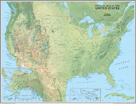 physical features of the united states map maps101 physical map of the united states 2011