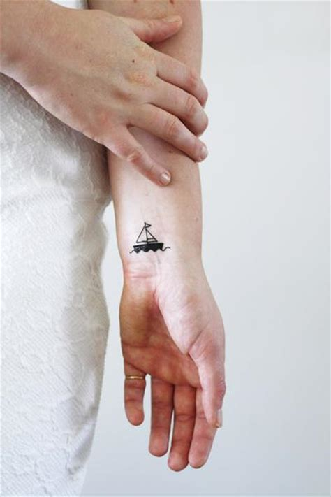 small marine tattoos two small boat temporary tattoos 2 pieces temporary