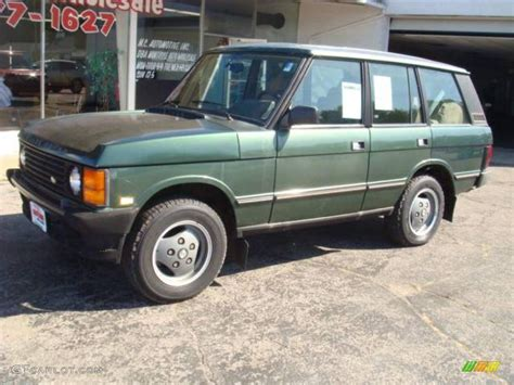 dark green range 1993 dark green metallic land rover range rover county