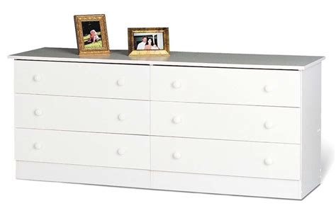 White Dresser by Home Furniture 6 Drawer Bedroom Dresser White New Ebay
