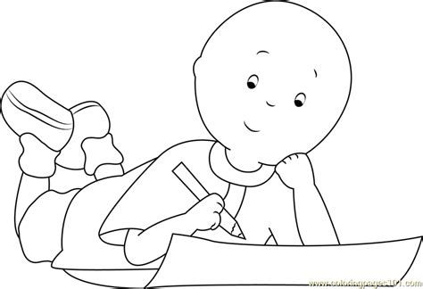 caillou coloring pages pdf caillou doing homework coloring page free caillou