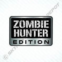 zombie hunter jeep zombie response vehicle sticker set label badge vinyl
