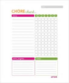 Chore List Templates Weekly Chore Chart Template 11 Free Word Excel Pdf