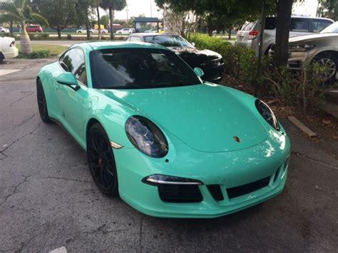 porsche mint green 2016 porsche 911 carrera mt gts pts mint green