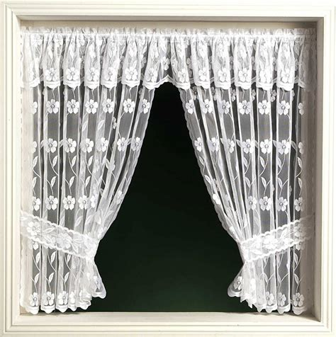 window net curtains jalipur window set priced per curtain white or