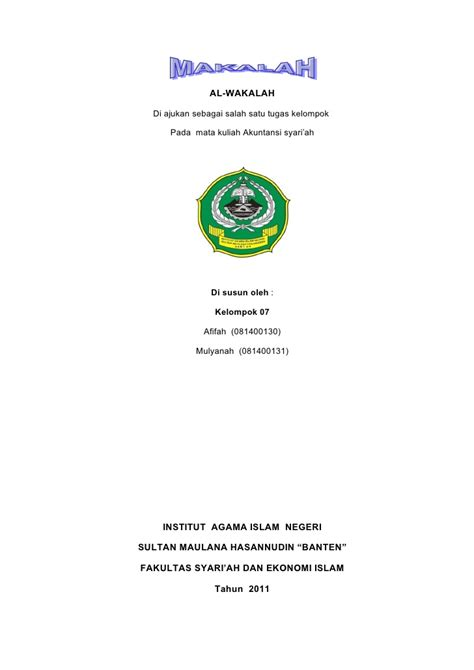 Letter Of Credit Wakalah kel 9 al wakalah