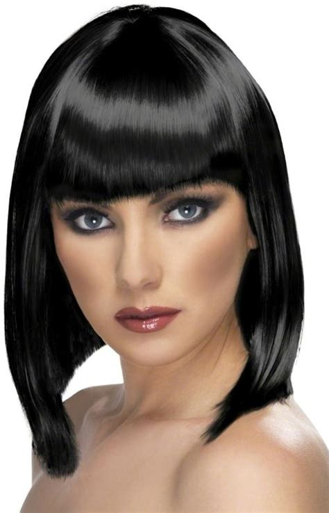 Wig Bob All Variant Colour Ready Stock blunt bob hair with fringe wig glam