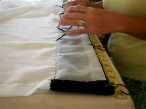 making drapes with rings draperies on rings youtube