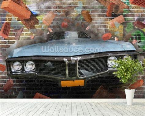 Car Graffiti Wallpaper by Graffiti Car Smash Wallpaper Wall Mural Wallsauce Uk