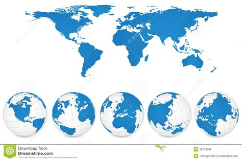 globe maps vector world map and globe detail vector illustration royalty