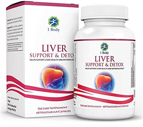 Vitamin B1 Detox by 1 Liver Support Detox Cleanse Supplement Vegetarian
