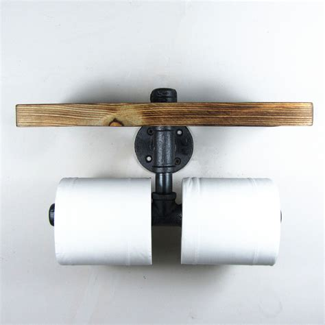 black toilet paper holder stand