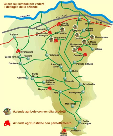 pavia cartina geografica mappa dell oltrepo pavese