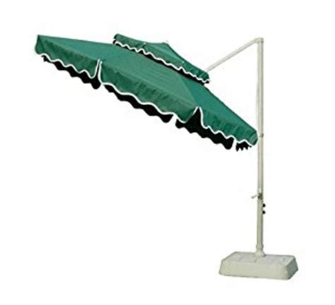 southern patio 10 foot offset umbrella with foldable base and top