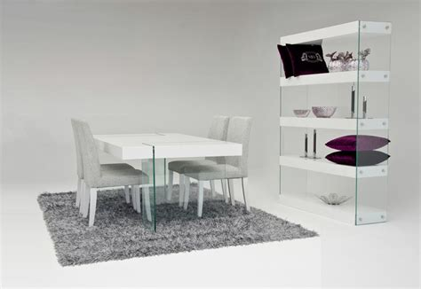 dreamfurniture modern white floating dining table