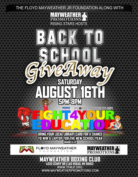 Back To School Supplies Giveaway 2017 - back to school giveaway 2014 the floyd mayweather jr foundation
