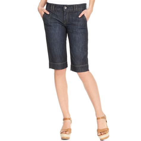 Kulot Jins kut from the kloth shorts leg denim bermuda in blue denim lyst