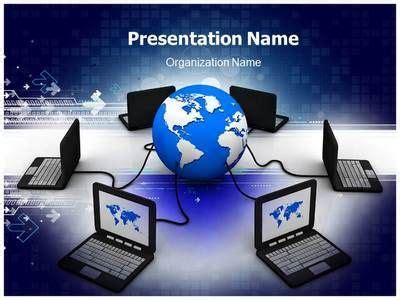 network templates for powerpoint free download free computer powerpoint template powerpoint presentation