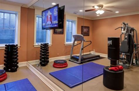 workout room mirrors home designs that will keep you motivated in winter