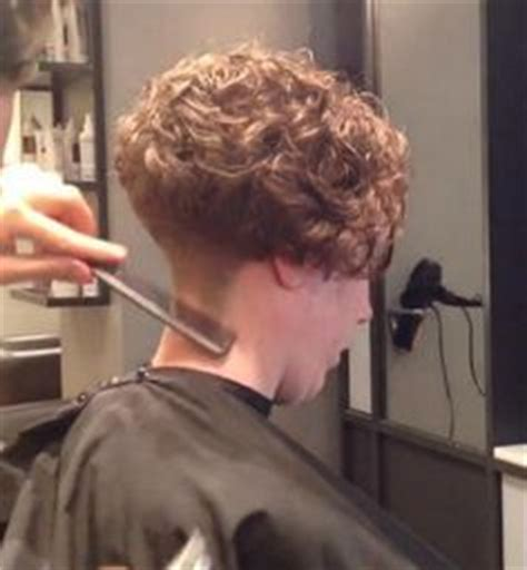 he gets excited his hair permed and highlighted undercut graduated bob with clippered blocked nape bob