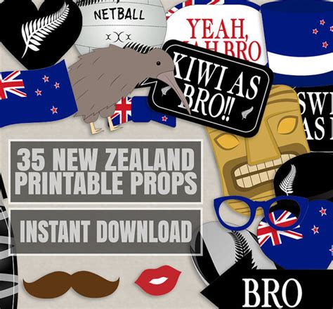 themed birthday parties nz 35 new zealand photo booth props kiwi themed party props i