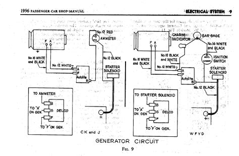1956 generator wiring diagram 1956 passenger car shop