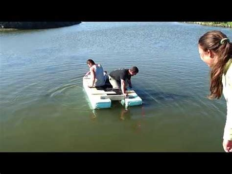make your own boat trailer guides nice homemade pontoon boat at black sea youtube