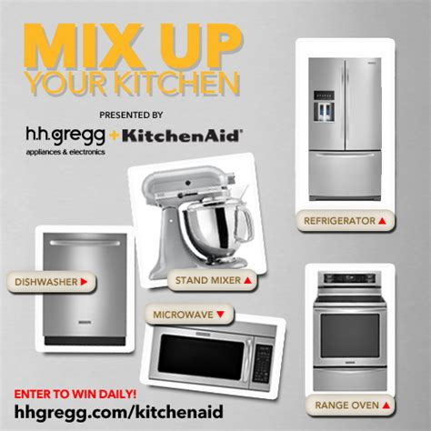 hhgregg kitchen appliances enter the mix up your kitchen sweepstakes