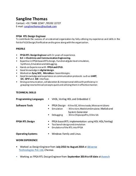 rtl design engineer resume resume ideas