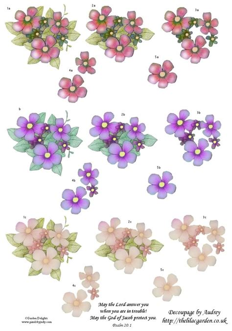 Decoupage Flowers - free decoupage sheets 3d floral decoupage