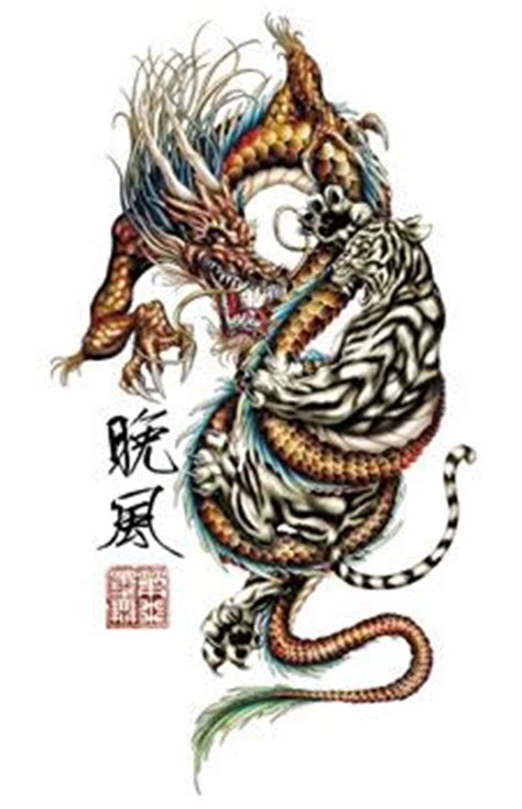 tattoo dragon vs tiger dragon and tiger tattoo crouching tiger hidden dragon